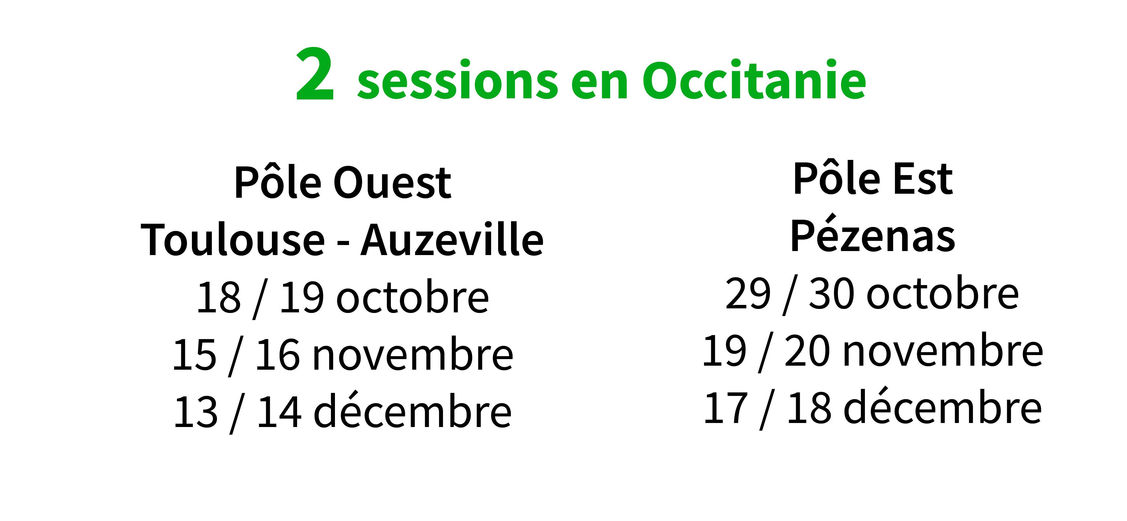 dates sessions SAP